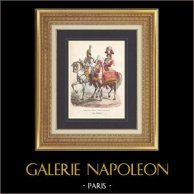 Napoleonic Soldier - Uniform - Imperial Guard - Timbalier - Drum on Horse - Trumpet - Dragoon