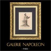 Scultura Italiana - Statua - Donna sostenante nella mano due flauti - Giardino di Boboli - Firenze