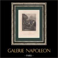 Napoleon in the Innocents Market  - Paris