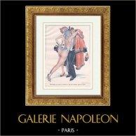 La Vie Parisienne - Années Folles - Art Déco - Erotisme - Deux Dames qui Jouent au Domino et qui Vont Sûrement Gagner la Partie