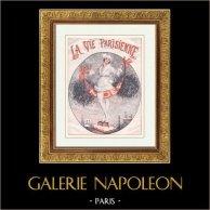 La Vie Parisienne - The Parisian Life - Golden Twenties - Art Deco - Eroticism - Christmas Day | Illustration published in the erotic magazine La Vie Parisienne drawn by Leo Fontan. c1925
