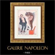 La vie Parisienne - Parisowskie życie - Złote Dwudziestki - art Deco - Erotyka - Dzień Głupiego w Aucie