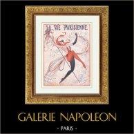 La Vie Parisienne - Glada 1920-talet - Art Déco - Erotik - Karneval | Illustration som publiceras i den erotiska tidskriften La Vie Parisienne efter teckningar av Vald'Es. 1923