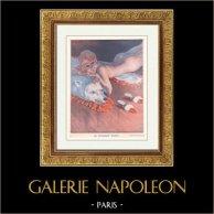 La Vie Parisienne - The Parisian Life - Golden Twenties - Art Deco - Eroticism - Christmas Day - En Attendant Minuit | Illustration published in the erotic magazine La Vie Parisienne drawn by Leo Fontan. c1925