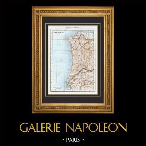 Zabytkowej Mapie Galicji i Portugalii |