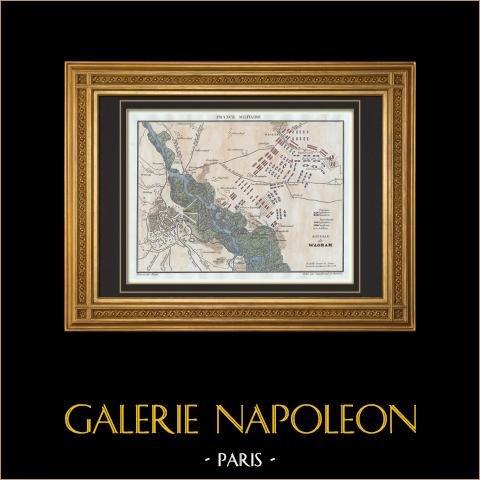 Zabytkowa Mapa - Wojny Napoleońskie - Wagon Bitwa pod (1809) |