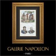 Guerilleros - Guerillas - Ambush - Insurgents - Portraits - Ferdinand VII of Spain (1784-1833) - Charles IV of Spain (1748-1819)