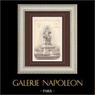 Fountain - Universal Exposition 1889 - Pavillon of Hygiene - Paris (Ch. Girault - A. Cordonnier)