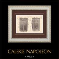 Wrought Iron Gate - House - 58 Rue de Londres  (L'Huile) - 18 Rue Boissière (Rives) - Paris | Monochrome print. Anonymous. 1899