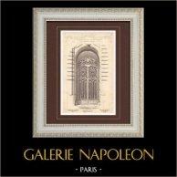 Wrought Iron Gate - House - 92 Avenue des Champs-Elysées in Paris (Friese) | Monochrome print. Anonymous. 1899