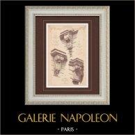 Mensola - Case - Avenue Marceau ad Parigi (Coulon - Jegoudez) | Stampa monocroma. Anonima. 1894