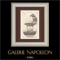 Newsstand - World Fair - Universal Exposition 1900 - Champs Élysées - Paris | Monochrome print. Anonymous. 1900