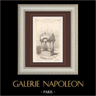 Chiosco a fiori - Esposizione universale 1900 - Parigi - Champs-Elysées | Stampa monocroma. Anonima. 1900