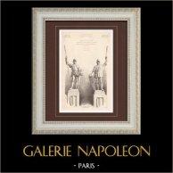 Statue - Exposition Universelle 1900 - Palais des Armées de terre et de mer - Paris (Auburtin & Umbdenstock - H. Galy)