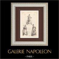 Statuen - Antoninus Pius - Vatikanische Musee in Rom - Italien - Genoveva von Paris (Guillaume) - Sankt Martin - Pantheon - Paris