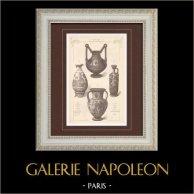 Vases - Vases grecs en terre cuite - Musée du Louvre - Paris - Vase Corinthien - Carthage - 6ème Siècle avant J.-C.