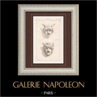 Máscara - Ópera de París - Palacio Garnier (Charles Garnier - Chabaud)   Grabado monocromo. Anónimo. 1874