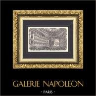 Vue de Paris - Le Nouvel Opéra de Paris - Palais Garnier | Gravure sur bois originale dessinée par Fichot, gravée par Gillot. 1875