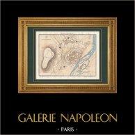 Antique map - Napoleonic Wars - Spanish War of Independence - Siege of Ciudad Rodrigo (1812)