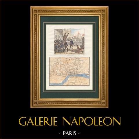 Francuski Wojny Rewolucyjne - Oblężenie Tortów (1811) - Marshal Suchet - Zabytkowa Mapa |