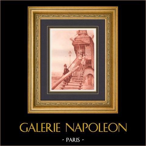 Molino de la Torta - Moulin de la Galette (Paul Quinsac)   Original helio grabado sobre papel vitela (Vélin). 1887