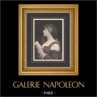 Laure - Portrait of Woman in Prayer (Jules Joseph Lefebvre)
