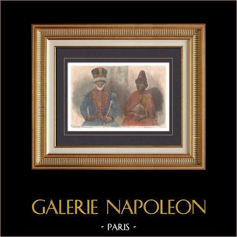 Portret van Denis Rapontchombo en zijn Vrouw - Roi Denis - Koning van Gabon (1780-1876) |