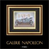 Historia del Automóvil - Coches Antiguos - Rolls-Royce 1906 | Grabado sobre papel vitela. c1960