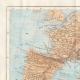 DÉTAILS 01 | Ancienne carte - Empire Romain en 14 après Jésus-Christ - Mort d'Auguste, Empereur romain