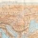 DÉTAILS 02 | Ancienne carte - Empire Romain en 14 après Jésus-Christ - Mort d'Auguste, Empereur romain