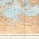 DÉTAILS 04 | Ancienne carte - Empire Romain en 14 après Jésus-Christ - Mort d'Auguste, Empereur romain