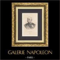 Portrait de Patrice de Mac Mahon - Maréchal de France - Président République française (1808-1893) | Gravure originale en taille-douce sur acier gravée par Le Nain. 1890