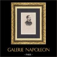 Portrait de Louis-Philippe, Comte d'Orléans (1838-1894) | Gravure originale en taille-douce sur acier dessinée par Le Nain. 1890