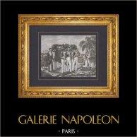 Napoleón - Muerte de Napoleón Bonaparte - Isla de Santa Helena - Cortejo fúnebre (1821)