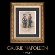 Traje Militar - República Francesa - Guardia Republicana de Francia (1848)   Original litografía dibujado por Lalaisse, litografiada por Villain litho. 1860