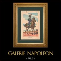 Napoleon I and his Staff (V. Huen) - General Antoine Drouot | Original polychrome print drawn by Victor Huen. 1905