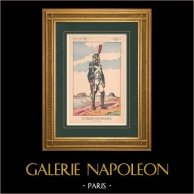Napoleon I and his Staff (V. Huen) - Fusilier-Grenadier of the Imperial Guard