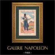 Napoleon I and his Staff (V. Huen) - Grenadier à pied