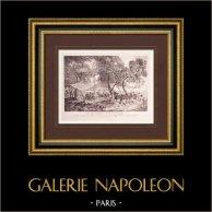 Peinture française - Les Délassements de la Guerre (Watteau)