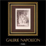 French painting - Italian Serenade (Watteau)