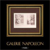 Pintura francesa - L'Amante Inquiète - La Rêveuse - Namorada Preocupada - Sonhadora (Watteau)