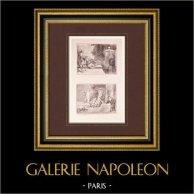 Peinture française - Belle N'écoutez rien, Arlequin est un Traitre - Pour l'Honneur d'une Belle (Watteau)
