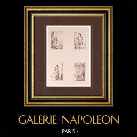 Malarstwo Francuskie - Moda - Kostium (Watteau) |