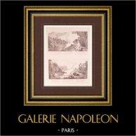Peinture française - Acis et Galathée - Chasse aux Oiseaux (Watteau)