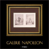Pintura francesa - La Marmotte - La Fileuse (Watteau)
