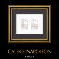 Hotel en Paris - Plano - Arquitecto M. Sanson (Francia)