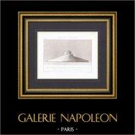 Pierres commémoratives - Champs de batailles sous les Murs de Paris - Projet - Architecte M. Chipiez   Gravure originale en taille-douce sur acier gravée par Guillaumot fils. 1872