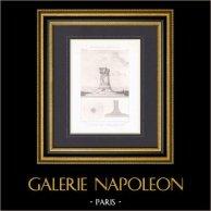 Pierres commémoratives - Champs de batailles sous les Murs de Paris - Projet - Architecte M. Thierry-Ladrange   Gravure originale en taille-douce sur acier gravée par Guillaumot fils. 1872