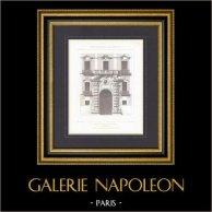 Porte principale d'un Palais à Naples - Architecte M. Guadet (Italie)