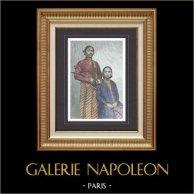 Porträt von Kaiser und Kaiserin in Surakarta - Java (Indonesien)